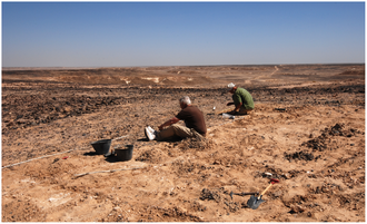 History of Oman - Archaeologists excavating a Middle Stone Age complex in the Dhofar Mountains.