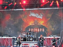 Judas Priest performing at the Sauna Open Air in 2011