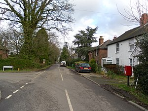 Fernhill, West Sussex - The junction of Peeks Brook Lane and Fernhill Road in Fernhill