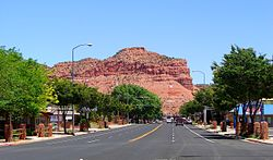 U.S. Route 89 through Kanab