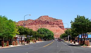 Kanab, Utah - U.S. Route 89 through Kanab
