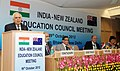 Kapil Sibal addressing the first meeting of the India-New Zealand Education Council (INZEC), in New Delhi. The Minister of Tertiary Education, Skills and Employment, New Zealand, Mr. Steven Joyce is also seen.jpg