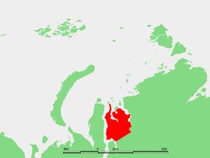 Gydan Peninsula - Location of the Gydan Peninsula.