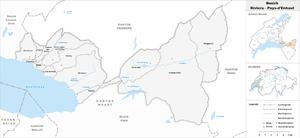 Riviera-Pays-d'Enhaut District - Image: Karte Bezirk Riviera Pays d'Enhaut 2008