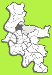 Lage von Unterrath Düsseldorf