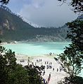 Kawah Putih Lake from the viewing platform, Bandung Regency, 2014-08-21.jpg