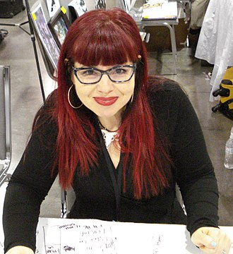 Kelly Sue DeConnick - Kelly Sue DeConnick at Heroes Convention 2014 in Charlotte, North Carolina