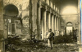 St. Mark's Cathedral, Bangalore - Image: Kenneth Anderson 1923 Fire Damage, St. Mark's Cathedral, Bangalore 01
