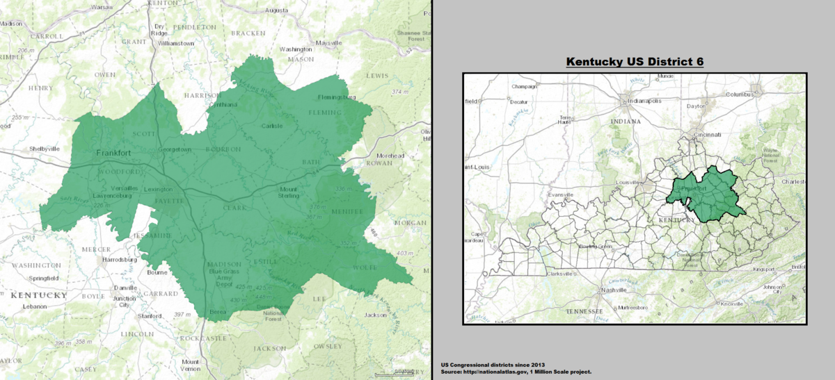 Kentucky S 6th Congressional District Wikipedia