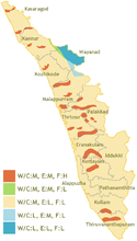 Multi-hazard map of Kerala.