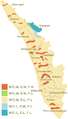 Kerala India multi hazard zones map.PNG