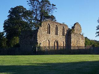 Kerelaw Castle building in Stevenston, Scotland