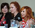 Kiala Kazebee, Morgan Romine and Kari Byron by user YGX.jpg