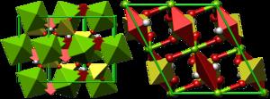 Kieserite - Crystal structure of kieserite