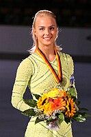 Kiira KORPI Nebelhorn Trophy 2009 Podium.jpg