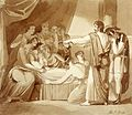 King Ahaziah lies sick after having fallen through an upper Wellcome L0031396.jpg