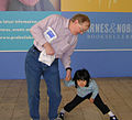 Kip Williams and child, Boskone 43.jpg