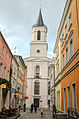 Kościół Matki Boskiej Częstochowskiej, widok z ulicy Mariackiej.jpg