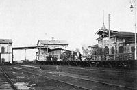 Kolpino railway station 1890years.jpg