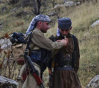 Komala Party of Iranian Kurdistan - Fighters of the Komala Party in late 2014.