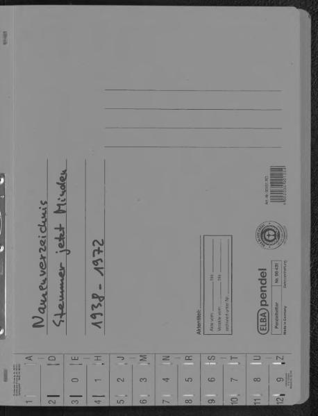 File:Kombiniertes Namensverzeichnis zu den Geburts-, Heirats- und Sterberegistern des Standesamtes Stemmer, 1938 bis 1972 (Kopie).djvu