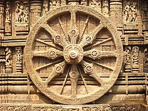 Wheel of Konark temple