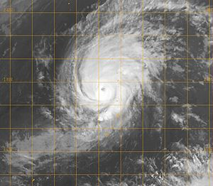 Timeline of the 2007 Pacific typhoon season - Typhoon Kong-rey at peak intensity on April 3