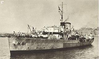 HMS <i>Mallow</i> (K81) Flower class corvette