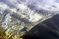 Koryaksky and Avachinsky volcanoes from the ISS.jpg