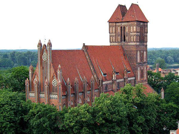 Kościół św. Jakuba w Toruniu, widok od strony północnej. Źródło: Wiki Commons, autor: Vauban, lic. CC-BY-SA-3.0