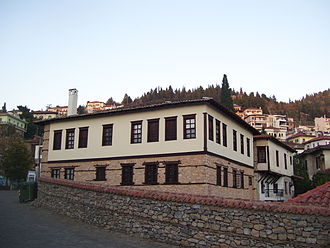 Kastoria - The mansion of Anastasios Picheon, now Macedonian struggle museum, Doltso Square