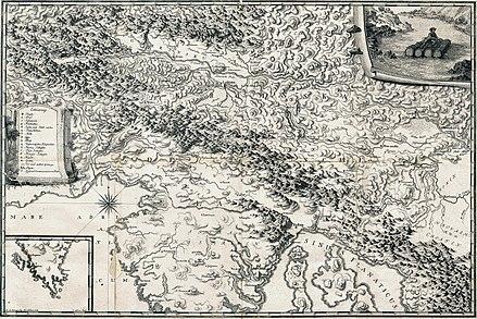 Kranjska dežela na zemljevidu iz leta 1778