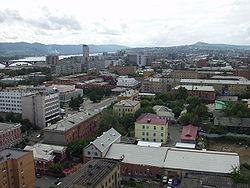 View of central Krasnoyarsk (2003)