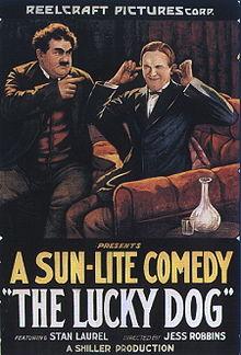 O Gordo e o Magro; cartaz promocional de 1921.