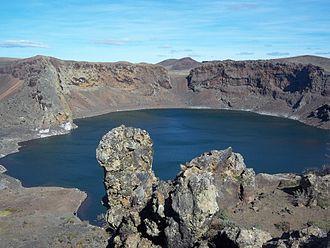 Pali-Aike volcanic field - Laguna Azul lake