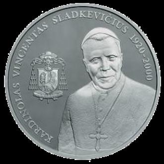 Vincentas Sladkevičius - Litas commemorative coin dedicated to Vincentas Sladkevičius