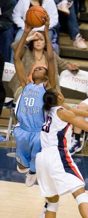 LaToya Sanders - LaToya Sanders for North Carolina in a game against Connecticut