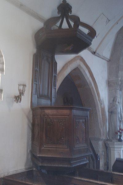 Chaire dans l'Église de La Feuillie
