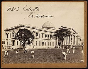 La Martiniere Calcutta - La Martiniere Calcutta in 1800 by Francis Frith