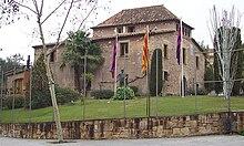 Vue d'un mas catalan