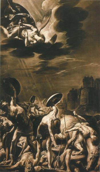 從災難中受到保護,辛那赫里布的爭戰 –Tanzio Da Varallo作