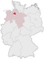 Lage des Landkreises Osterholz in Deutschland.PNG