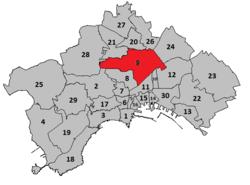 Mappa dei quartieri di Napoli
