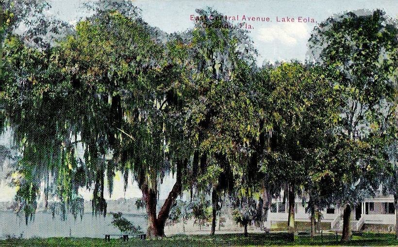Lake Eola from East Central Blvd., Orlando, FL