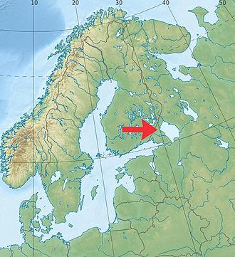 Lake Ladoga - Image: Lake Ladoga location