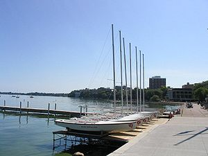 Memorial Union (Wisconsin) - Image: Lake Mendota Madison, WI