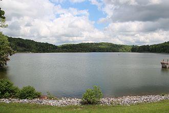 Yahoola Creek - Lake Zwerner, a reservoir on Yahoola Creek