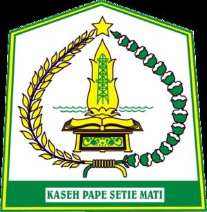 Aceh Tamiang Regency - Image: Lambang Kabupaten Aceh Tamiang