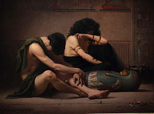The Bible and violence - Lamentations over the Death of the First-Born of Egypt by Charles Sprague Pearce (1877)