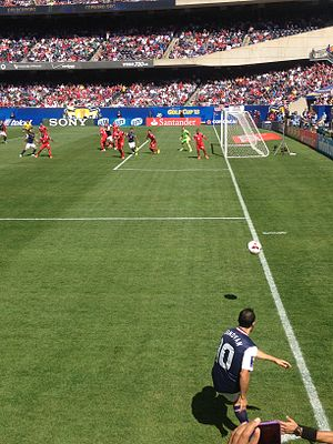 2013 CONCACAF Gold Cup - Golden Ball and Golden Boot winner, Landon Donovan, in the USA vs. Panama final at Soldier Field on 28 July 2013